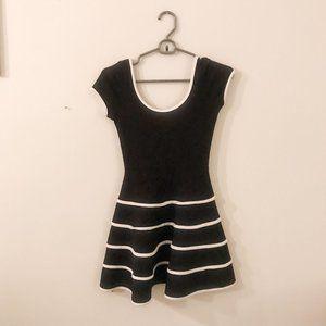 Soprano Black Dress with Stripes